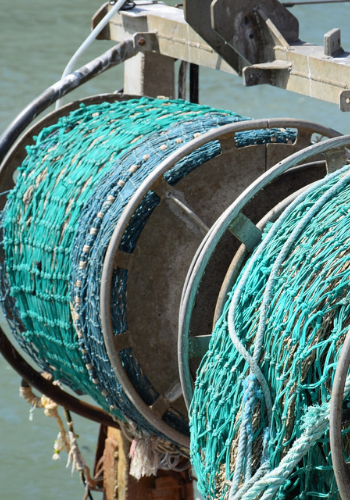 Plastik im Meer durch Fischerei